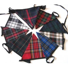 8m mixed tartan double ply bunting
