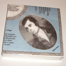Robert Burns portrait paper napkins (Pack of 20)