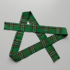 50mm Irish National Tartan Fabric Ribbon Strip 140cm long