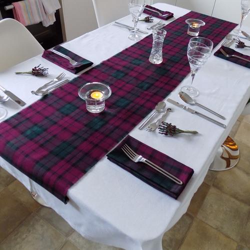 Lindsay Tartan Fabric Table Runner