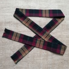 50mm Macmillan Modern Black Tartan Fabric Ribbon Strip 140cm long