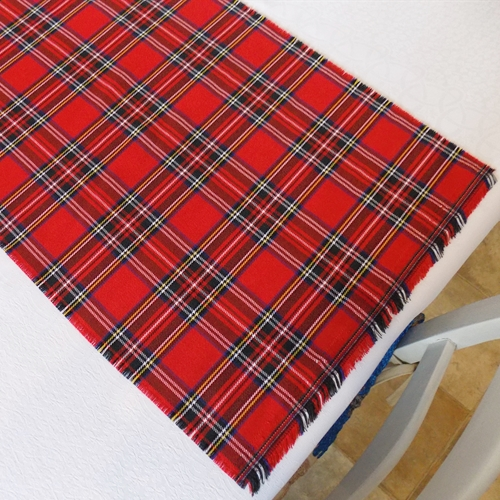 Royal Stewart Tartan Fabric Table Runner
