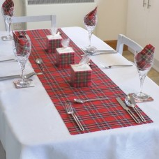 Royal Stewart Tartan Fabric Table Runner