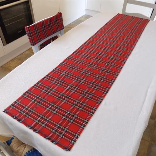 Captivating Royal Stewart Tartan Fabric Table Runner