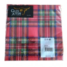 Royal Stewart tartan paper napkins (Pack of 20)