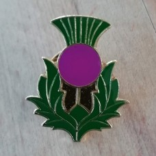 Scottish Thistle Sash Pin Brooch