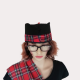 Scottish Red Tartan Novelty See You Jimmy Glengarry Hat