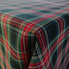 Stewart Black Tartan Cotton Tablecloth - Various Sizes